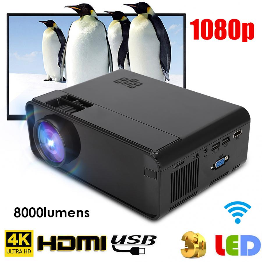 W13 Multimedia home theater 3D HD 1080P LED Projector Mini Projector HDMI TV home cinema home theatre 480p Standard Version