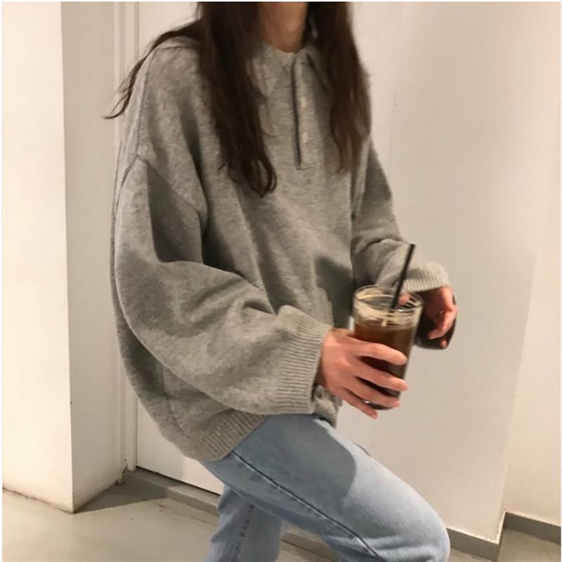 Nuevo suéter de invierno, jersey para mujer, Tops para chicas, Tops Vintage de manga larga, Otoño, ropa de abrigo tejida elegante para mujer, suéter cálido de gran tamaño