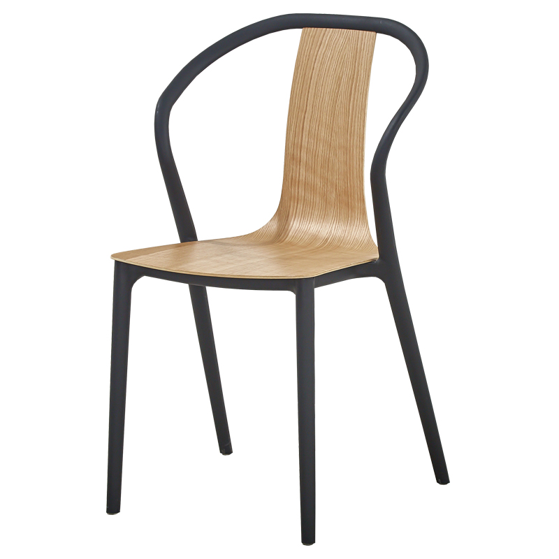 Nordic black chair modern minimalist backrest chair home creative design casual fashion chair