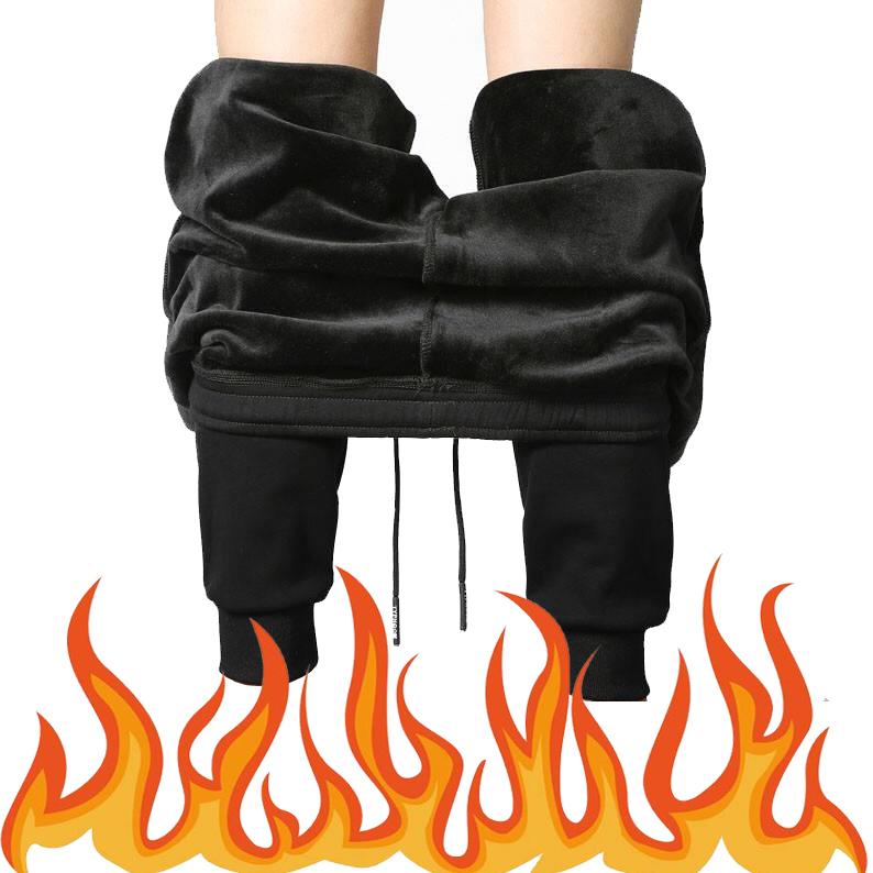 2019 Winter Fleece Pants Men Thick Sweatpants Plush Trousers Mens Fashion Joggers Pantalon Homme Sweat Pants Man Sportswear Warm