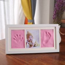 Рамка для фотографий новорожденных «сделай сам», мягкая глиняная прокладка с чернилами, изысканный сувенир, подарок, украшение для дома