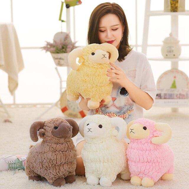 25~55cm Simulated Stuffed Sheep Doll Standing Colorful Grassland Animal Soft Plush Toy Boys Girls Xmas Gift 1