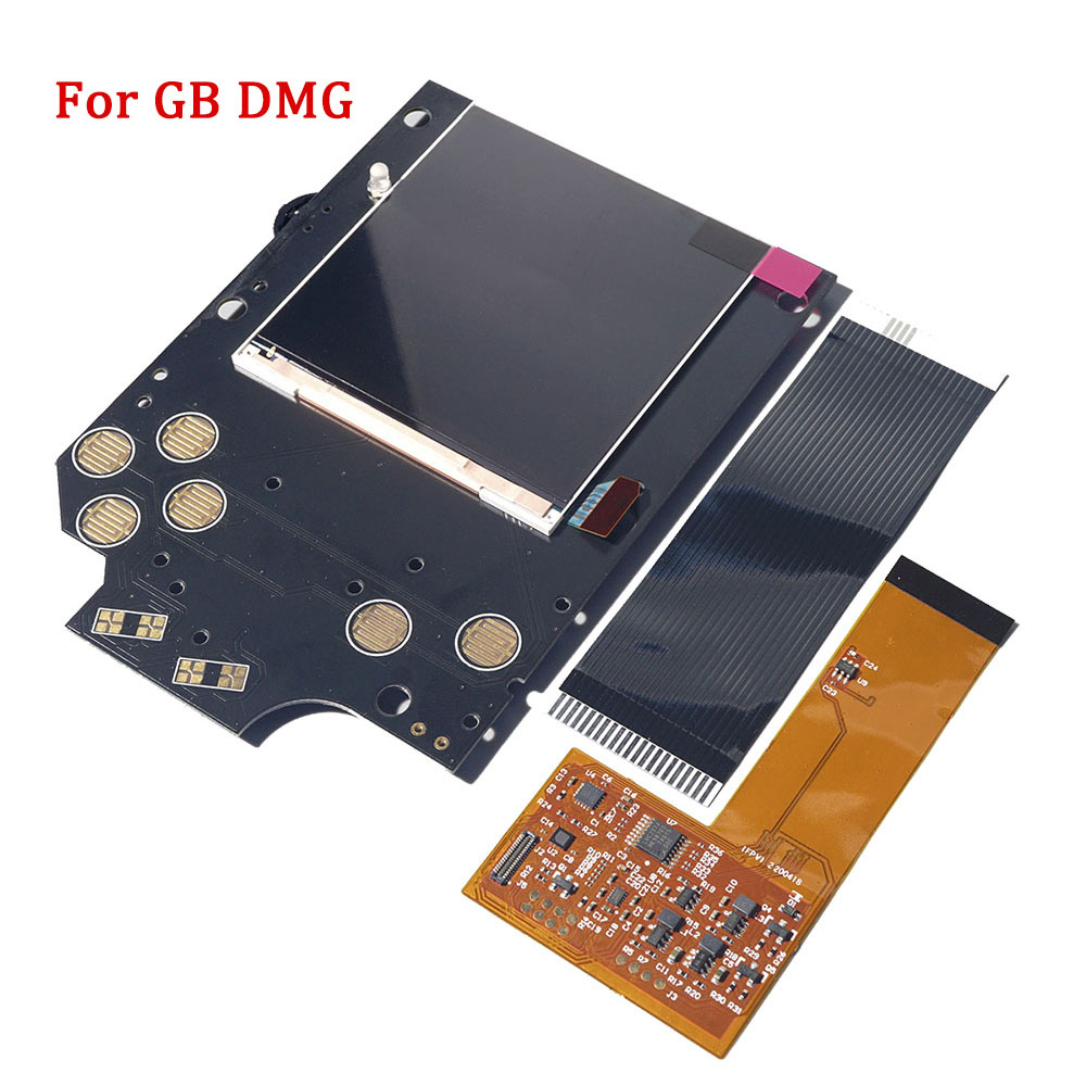 Full Screen IPS LCD Kits Replacement for GB DMG IPS LCD Backlight High light Brightness 36 vintage background colors adjustable