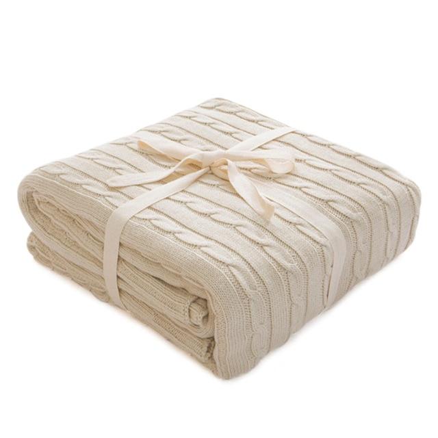 販売 格子縞の毛布ベッドカバーソフトスローブランケットベッドカバー寝具ニット毛布空調快適な睡眠ベッド