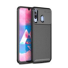 For Samsung M20 Case Silicone Galaxy M30 M10 Carbon Fiber Silica Soft
