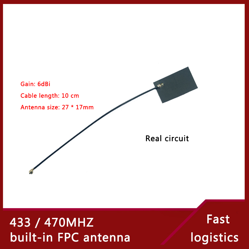6dBi Gain LoRa Antenna Cable10 Cm 433/470M Built-in Flexible FPC Circuit Board Antenna IPEX Interface Real Circuit Patch Antenna