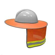 Защита от солнца для твердой шляпы высокая видимость Светоотражающая полная шляпа с защитной сеткой Солнцезащитная защита шеи OC