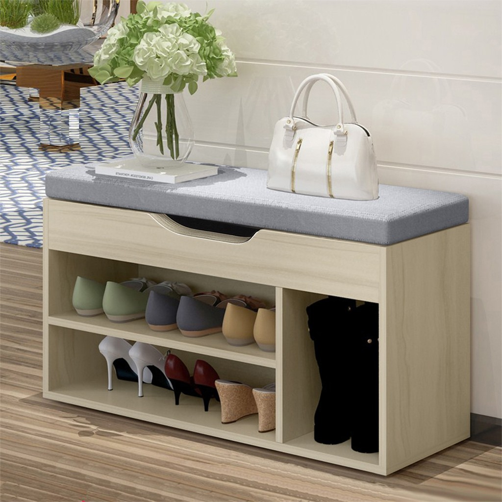 Simple Modern Shoe Storage Stool Fashion Sofa Bench Change Shoe Bench Shoe Rack With Cushion Seat