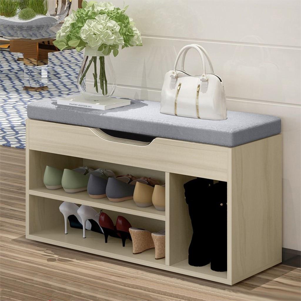 Simple Modern Shoe Storage Stool Fashion Sofa Bench Change Shoe Bench Shoe Rack With Cushion Seat