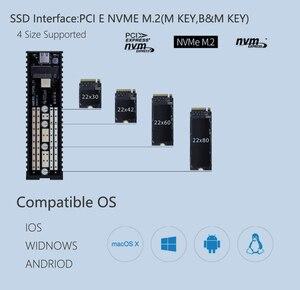 Image 3 - EZCAST NVME M.2 case M.2 to rodzaj USB C 3.1 Adapter SSD dla NVME SATA M klucz M/B klucz Pcie Nvme m.2 obudowa ssd