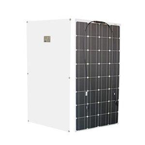 Image 2 - RG 2PCS 4PCS 6PCS 100w Flexible Solar Panels 100W 12V Monokristalline biegsamen solar ladegerät für home