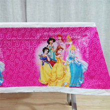 108cm*180cm Princess Ariel/Snow White/Belle/Cinderella/Jasmine/Aurora TableCloth Kid Birthday Party Supplies Decoration