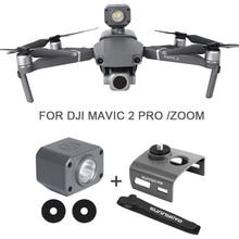 Vôo noturno led luz para dji mavic 2 pro zoom drone iluminação holofote lanterna com suporte de montagem acessórios zangão