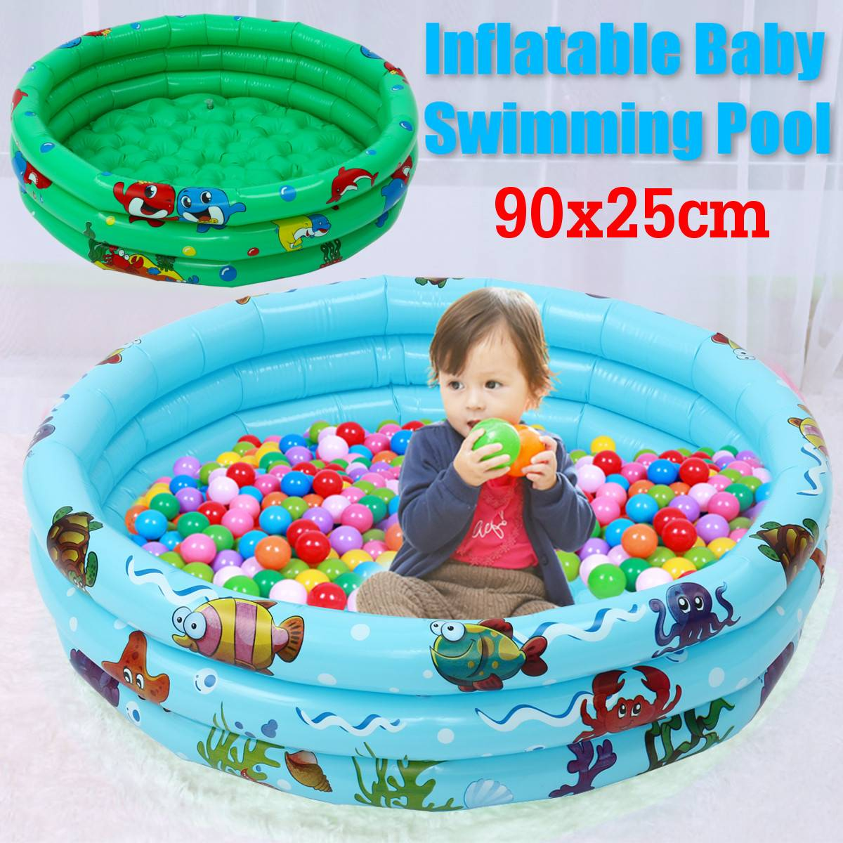 90x25cm Inflatable Baby Swimming Pool Piscina Portable Outdoor Children Basin Bathtub Kids Pool Baby Swimming Pool Water Tub