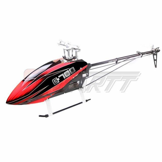 GARTT modèle 700 DFC TT RC hélicoptère, Version Tube de couple en fibre de verre canopée compatible Trex 500FBLGT
