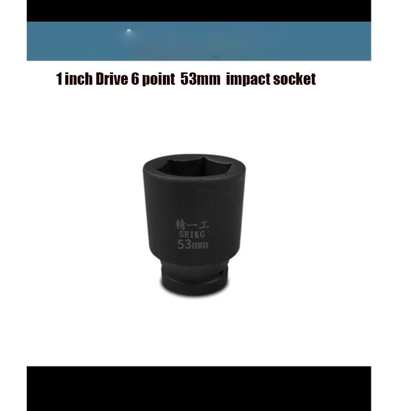 1 pouce lecteur 6 points 53mm douille à chocs cr-mo