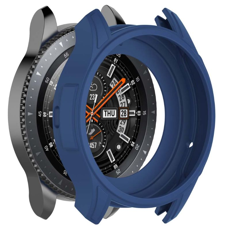 Silicone Soft Shell Protective Frame Case Cover <font><b>Skin</b></font> For <font><b>Samsung</b></font> Galaxy Watch 46mm Gear <font><b>S3</b></font> <font><b>Frontier</b></font> LX9A image
