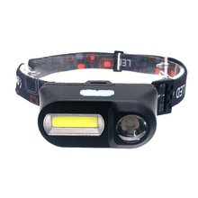 USB charging headlight Multifunctional COB outdoor Emergency head-mounted flashlight ABS 6 lighting modes Portable illumination