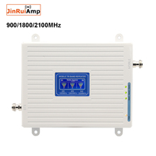 Amplificador de señal móvil de tres bandas GSM DCS WCDMA 900 + 1800 + 2100, repetidor móvil 2G 3G 4G LTE, amplificador de teléfono móvil GSM 3G 4G