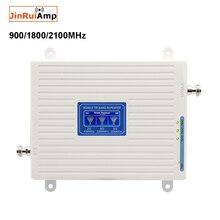 GSM DCS WCDMA 900 + 1800 + 2100 トライバンド携帯信号ブースター 2 グラム 3 グラム 4 4G LTE セルラーリピータ Gsm 3 グラム 4 グラム携帯電話ブースター