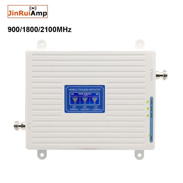 Gsm dcs wcdma 900 + 1800 + 2100 트라이 밴드 모바일 신호 부스터 2g 3g 4g lte 셀룰러 리피터 gsm 3g 4g 휴대 전화 부스터