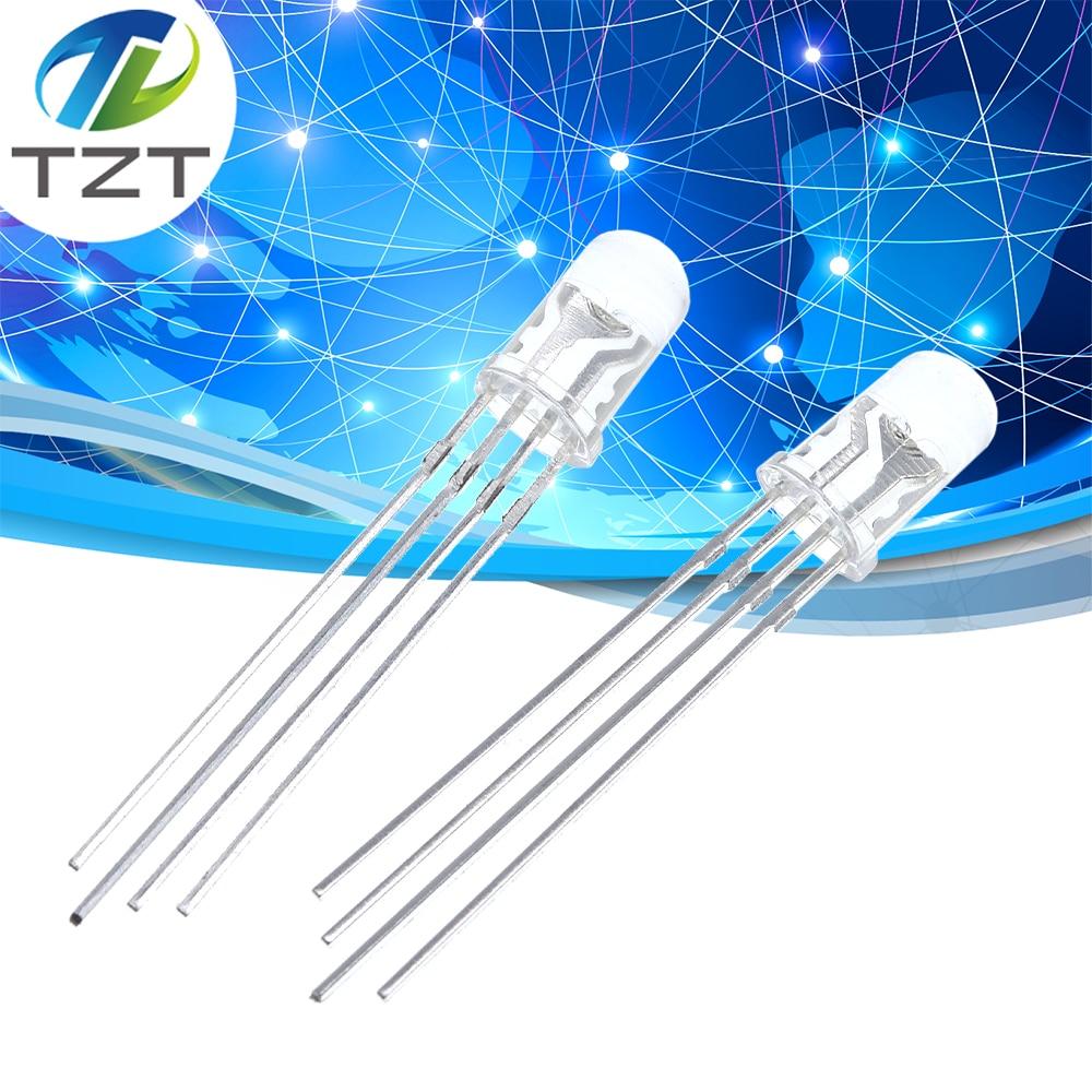 20Pcs Led Rgb Common Cathode 4-Pin F5 5Mm Super Bright Bulb Lamp cu