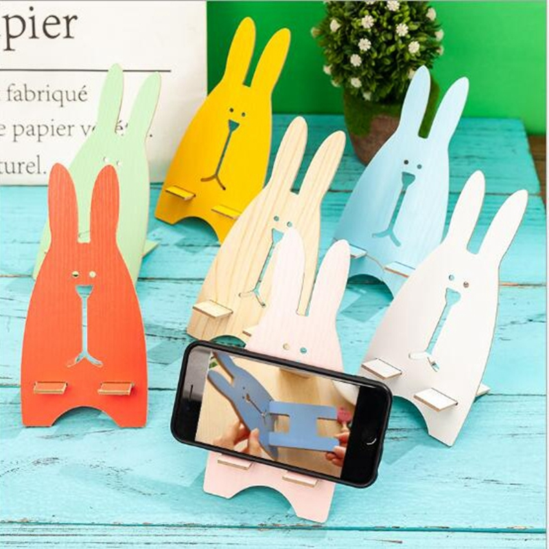 Univeral Lazy Mobile Phone Holder Accessory Cute Animal Rabbit Cellphone Tablet Desktop Holder Stand for iPhone 7 8 Plus XS MAX