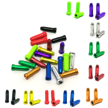 50pcs MTB Bike Bicycle Brake Shifter Inner Cable Tips Crimps Aluminum Cycle Cycling Part Shift Cables End Caps Bike Accessories image