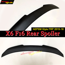 Fits For BMW X6-Series F16 Trunk Spoiler Wing FRP Unpainted Black PSM Style X6 F16 Rear Trunk Spoiler Wing Car Styling 2015-2018 best pu primer grey black unpainted sports car rear trunk spoiler wing for hyundai sonata 8 2011 2014 no drilling needed