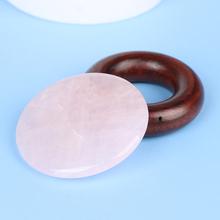 Pink Eyelash Extension Jade Stone Glue Lashes Adhesive Pallet Fake Eye Lash Extension Glue Pallet Pad Stand Holder tanie tanio CN(Origin) Crystal cilios glue