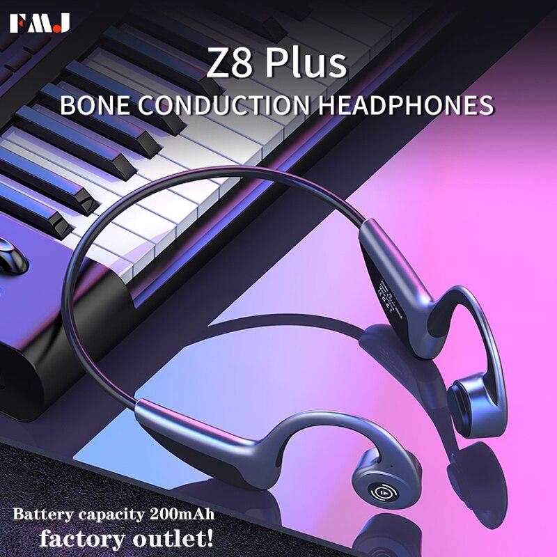 Bluetooth 5,0 Z8 Беспроводные наушники с поддержкой Xiaomi Мобильный телефон костной проводимости, наушники для спорта на открытом воздухе с микрофо...
