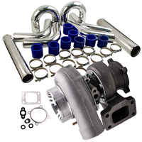 "GT35 Turbocharger+3"" 76mm Intercooler Pipe Kit For Nissan Safari Patrol TD42 GQ Y60 Y61 Turbo Turbine Supercharger T3 Flange"