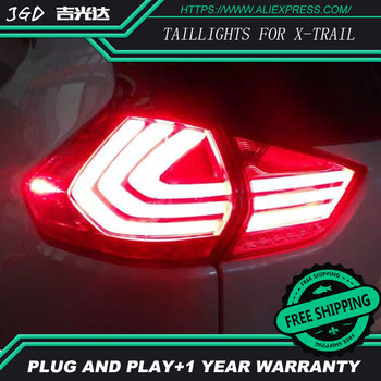 Car LED Tail Light for Nissan X-Trail taillights 2014-2016 Nissan X-Trail taillight Red Fog Stop Lights Car styling