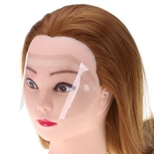 Image 3 - 50 100 pcs Women Supplies Disposable Face Hairspray Shield Film For Hair Salon Hair Cutting Face Protection Shield Mask
