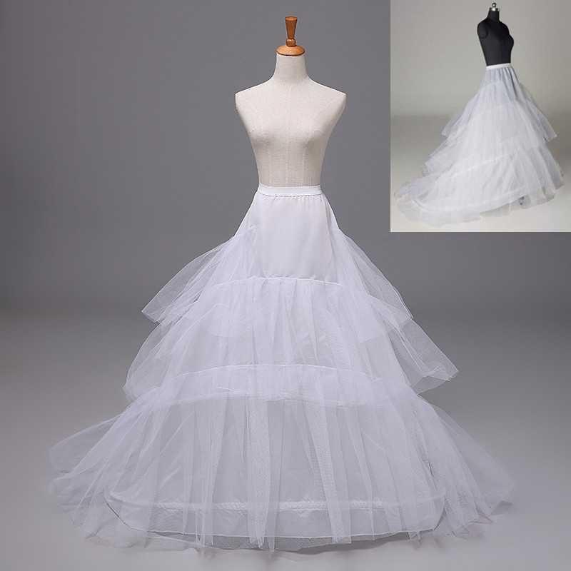 Wedding Petticoat Bridal Hoop Hoopless Crinoline Skirt Prom Underskirt Dress