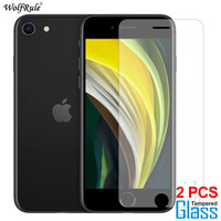 2Pcs Screen Protector For iPhone SE 2020 11 Pro Max X XR XS Tempered Glass Protective Phone Film For iPhone 8 7 6 6S Plus 5 5S|Phone Screen Protectors|Cellphones & Telecommunications -