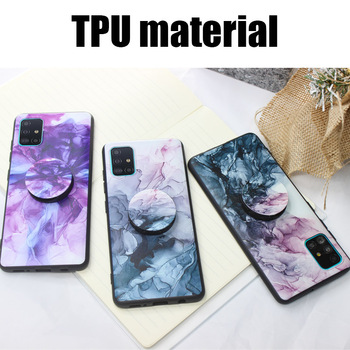 Hand drawn ink Case Phone holder For Huawei Nova 5T Hard back cover Silicone protector luxury image