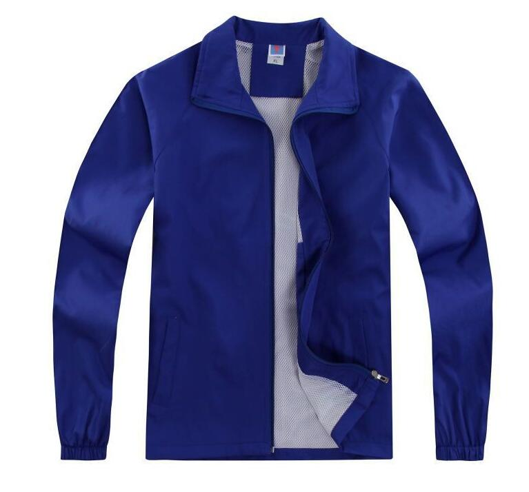 Thick Mj  Composite Zipper Coat Long Sleeve Autumn Winter Advertising Shirt Jacket Windbreaker