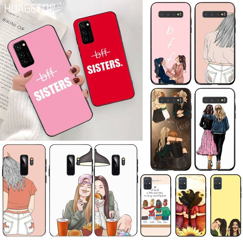 Чехол HUAGETOP Best Friends Forever BFF для Samsung S20 plus Ultra S6 S7 edge S8 S9 plus S10 5G lite 2020