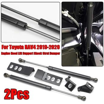 2 stuks Zwart Motorkap Lift Ondersteuning Shock Strut Demper Voor Toyota RAV4 2019-2020 Motorkap Lift Shock strut Demper