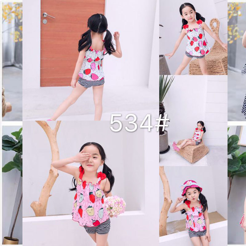 Kids Siamese Swimsuit Children GIRL'S Swimsuit (4-8 Years Old) 534 CHILDREN'S Swimwear