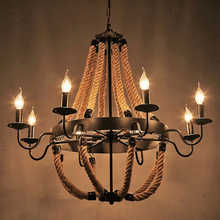 Nordic Retro Bar Industrial Chandelier Black Iron Wood Light Spider Light Personality Restaurant Light Fixtures Cafe Led Lamp все цены
