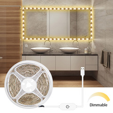 SMD2835 5V USB Led Strip Light Touch Sensor Dimmable LED Tape 1M 2M 3M Cool white / Warm white Flexible Room Light TV Backlight