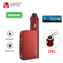 Original Vaptio 100W P3 Vape kit with 3000mah box mod Built in VW/TC MOD Battery Vaporizer kit 2.0ml Top Filling Atomizer цены онлайн