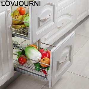 Organizer Cabinet Kitchen Stainless-Steel Cocina-Rack Drawer for Cestas Para Armario-De-Cosina