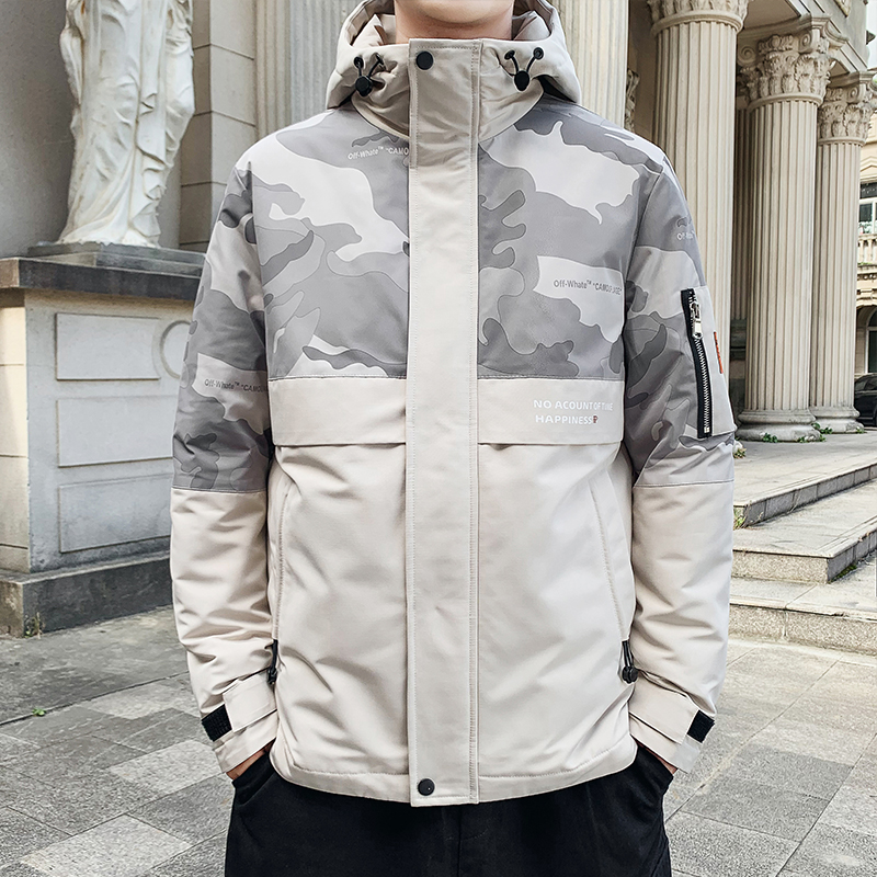 BROWON Winter Men Jacket Zipper Men's Overcoat Camouflage Keep Warm Thick Jackets Men Coats 2019 Winter Jacket For Men