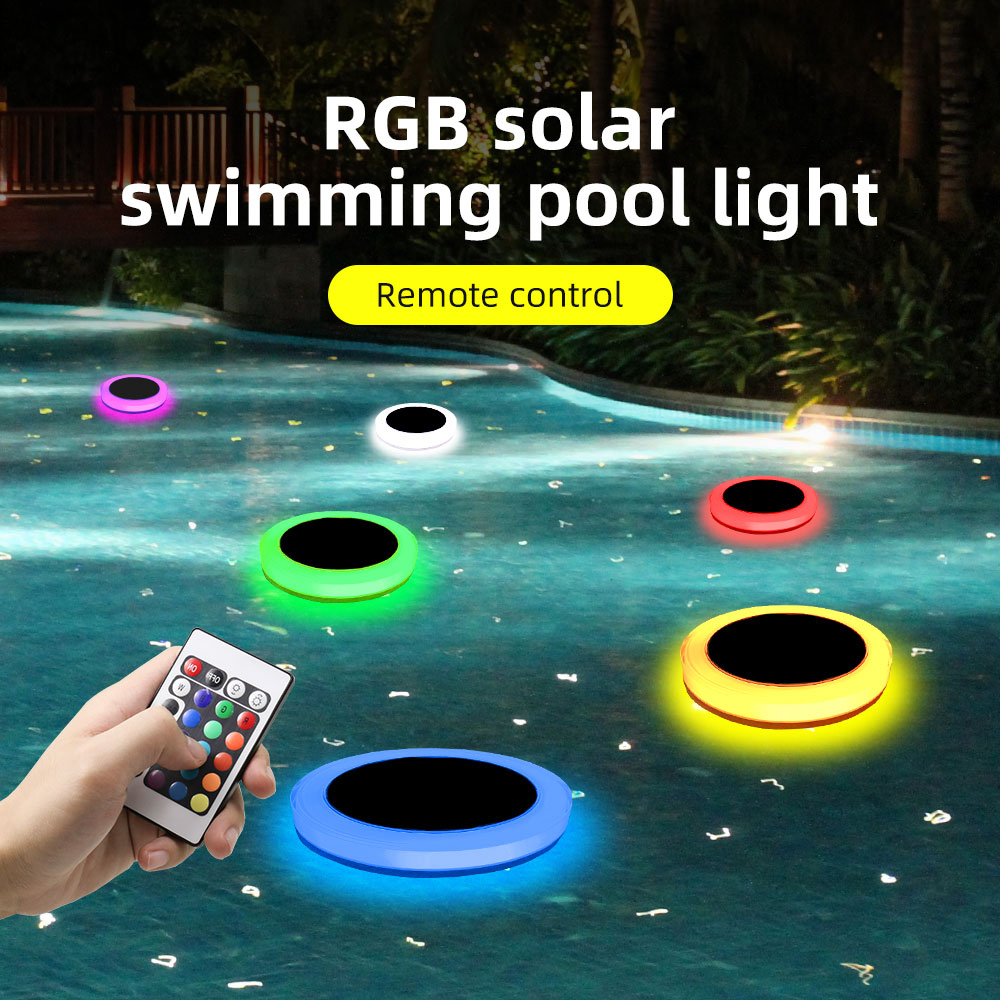 IP68 Waterproof Solar Floating Pool LED Light Underwater Outdoor Landscape Swimming Piscina Aquarium Garden Lawn Decoration Luz