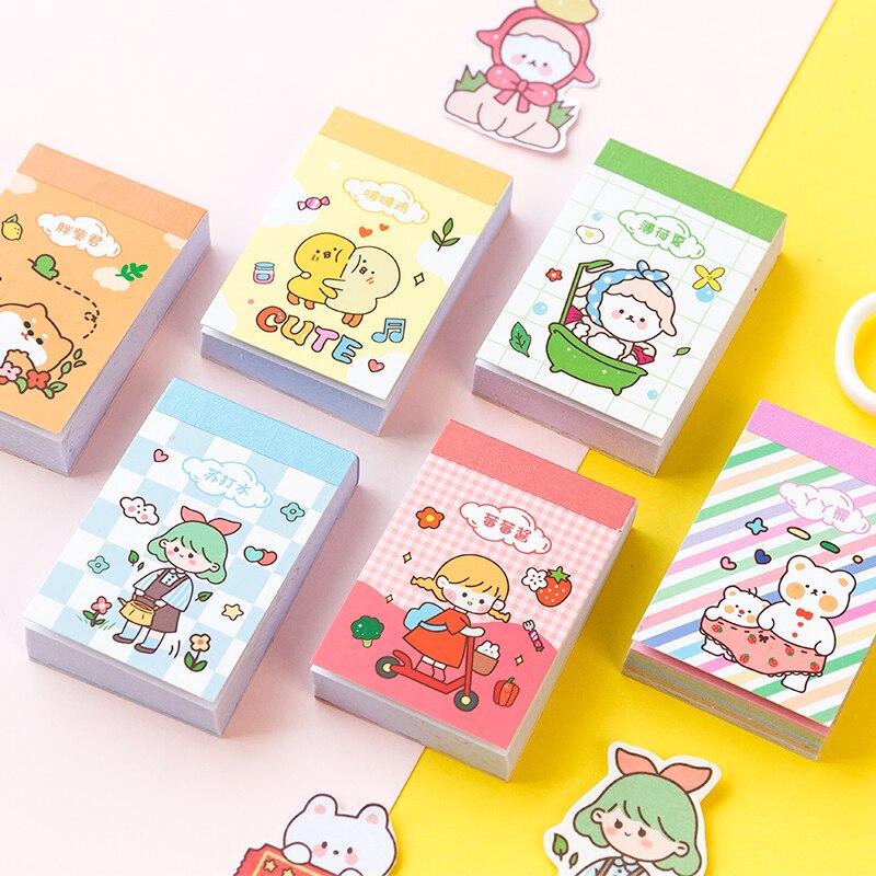 Journamm 50pcs Carino Kawaii Giapponese Sticky Pad Cancelleria Della Corea Forniture Adesivi Pallottola Ufficiale Scrapbooking Etichetta Adesivi