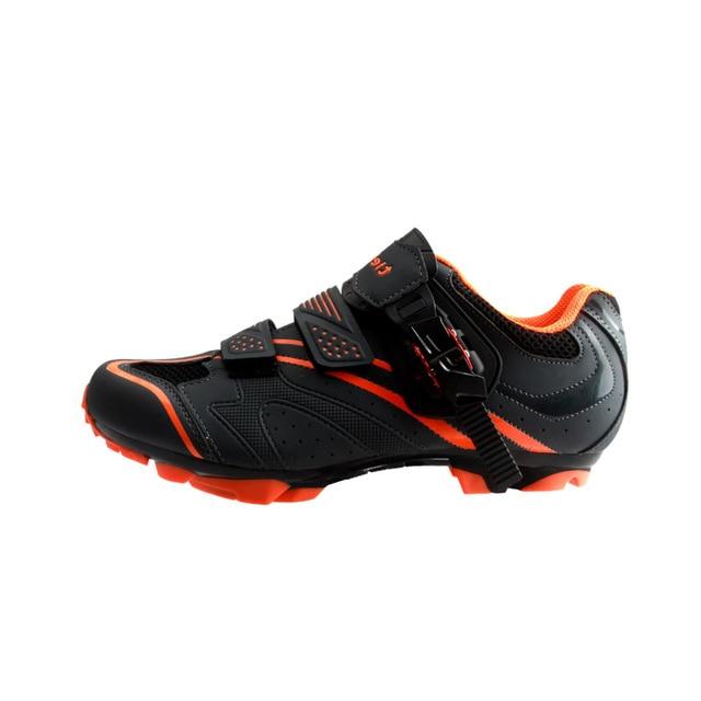 Apuramento! Tiebao sapatos de bicicleta mtb, calçados para ciclismo de montanha, autotravamento, cano alto, triathlon, EU38-47 4