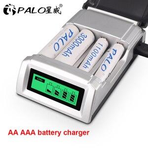 Image 5 - Умное зарядное устройство PALO C905 с ЖК дисплеем и 4 слотами для аккумуляторов AA / AAA NiCd NiMh, быстрая зарядка